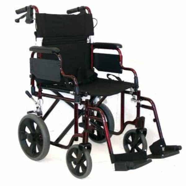 Folding Deluxe Transit Wheelchair