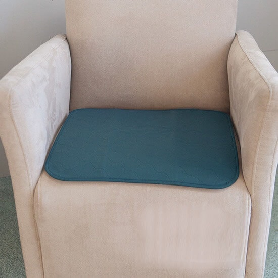 Conni Small Chair Pad Teal Blue
