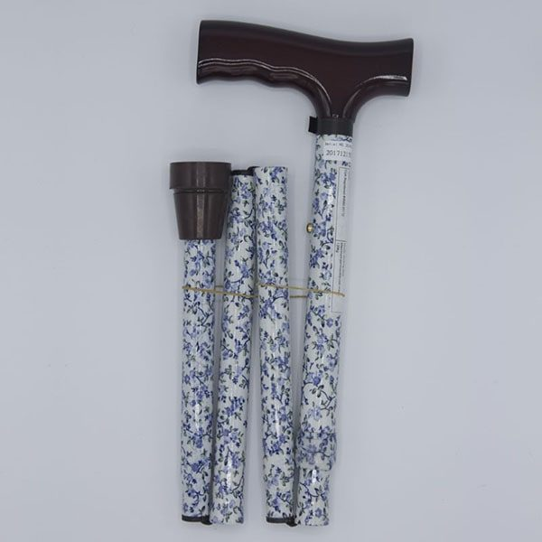 Folding Floral Walking Stick