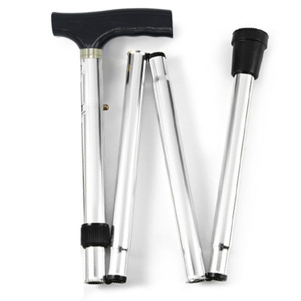 Foldable Silver Walking Stick