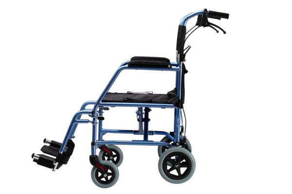 Omega LA1 Lightweight Transit Wheelchair Side
