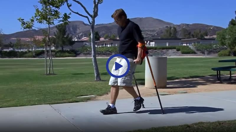 Demo of smart CRUTCH for Non-Weight Bearing Use