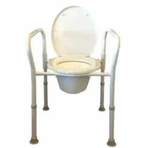Foldable Over Toilet Frame or Commode