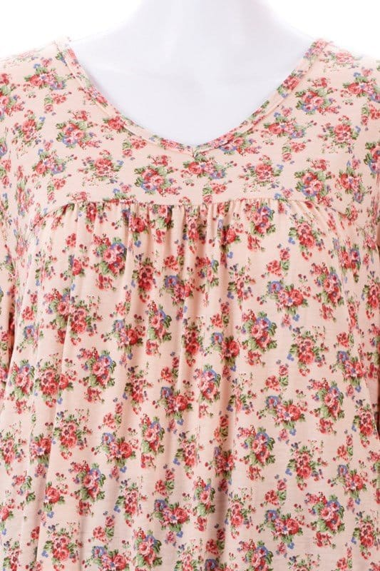 Women Apricot Floral Nightie