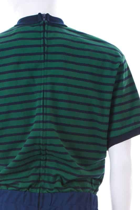 Green Stripe Top and Navy Pants Men's Dignity Suit