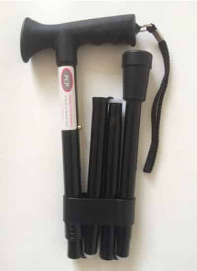 PCP Folding Walking Stick- Soft Handle Grip