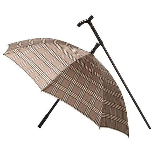 Brown Carbon Fibre Umbrella Cane