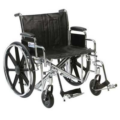 Bariatric Self Propelled Wheelchair 24 Inch 204 Kg